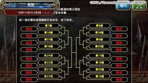 淘汰赛分组示例(仅供参考)
