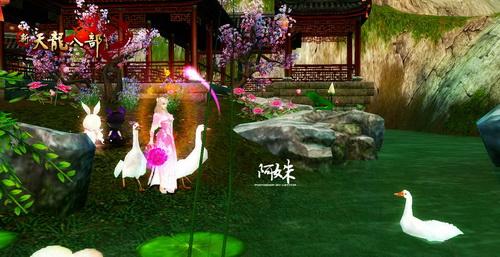 青山碧水,古朴园林