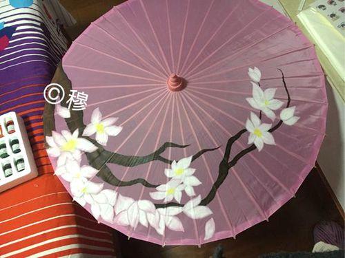 全部涂色完成的伞已初具神韵