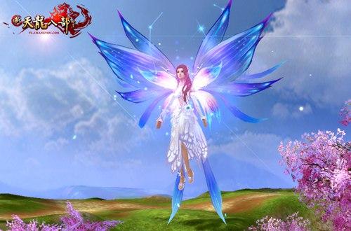 蝶舞流芳与极光羽翼