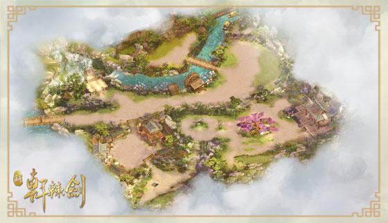 月河村完整地图,比之原作更为详细具体